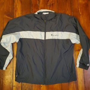 Champion Jacket Large Gray and White Comfy!